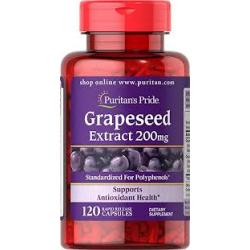Puritan's Pride Grapeseed Extract 200 mg 200 mg / 120 Capsules