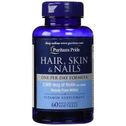 Puritan's Pride Hair, Skin & Nails One Per Day Formula / 60 Softgels