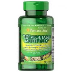 "Puritan's Pride ""10"" Vegetable Multi-Plex™ 500 mg / 90 Caplets"