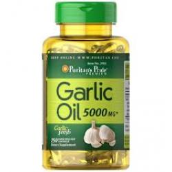 Puritan's Pride Garlic Oil 5000 mg. / 250 Rapid Release Softgels