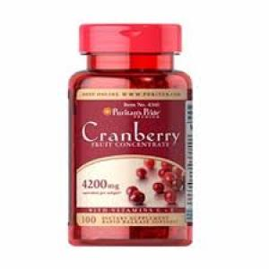 Puritan's Pride Cranberry Fruit Concentrate with C & E 4200 mg / 100 Softgels