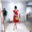 Dress ชุดลายดอกแบบผูกป้าย เดรสคอวี แขนสั้นระบาย thumbnail 1