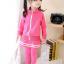 ชุดเซ็ทเด็กสีชมพู 2 ชิ้น เสื้อแขนยาวซิปหน้า+กางเกงเลกกิ้งขายาว แบบเข้าชุดใส่แล้วน่ารักเท่ห์สุดๆค่ะ thumbnail 3