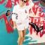 พร้อมส่ง เสื้อเกาหลี Long Shirt สีขาว thumbnail 5