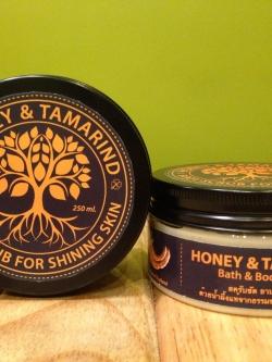 สครับน้ำผึ้ง มะขาม สำหรับขัดผิวกาย